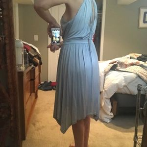 Anthropologie Light blue jersey dress
